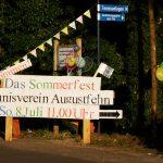 Schild Sommerfest